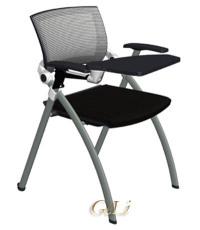 VIGO带可折叠写字板网布培训椅会议椅