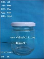 廠家直銷醬菜瓶 200ml醬菜玻璃瓶