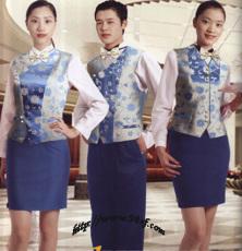 定做酒店工作服夏装 女 服务员服装
