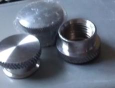 不锈钢酒壶盖子酒壶螺母冷墩酒壶盖滚花螺母