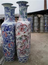 西安景德镇大花瓶 陶瓷落地大花瓶好事成双