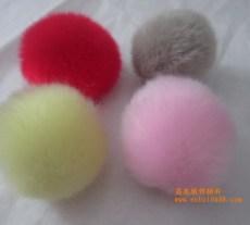 供應5-10CM仿兔毛球 毛絨布包球 手工毛球