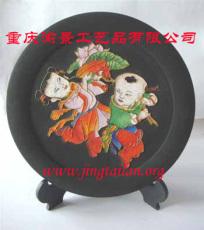 景泰蓝活性炭装饰画