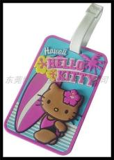 hello kitty优质创意行李牌 立体pvc行李牌