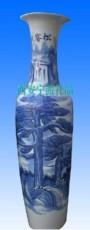 20周年庆典送什么 西安青花瓷迎客松大花瓶