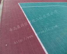 篮球场室外地板-耐用篮球场拼装地板